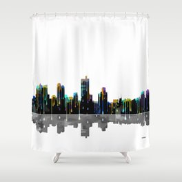 Fort Worth Skyline BW1 Shower Curtain