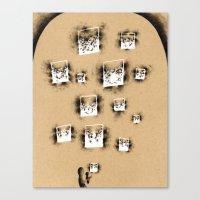 lanterns Canvas Prints featuring Lanterns by Landon Oberg (Nafnlaus)
