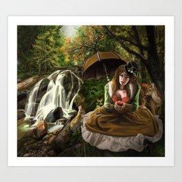 Steampunk Snow White Art Print