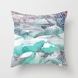 Reflection dream; sea blue Throw Pillow
