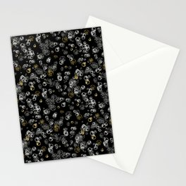 Arabidopsis isolated cells grey-gold on black Stationery Cards