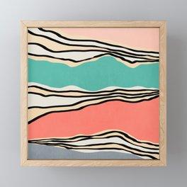Modern irregular Stripes 10 Framed Mini Art Print