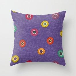 merkez violet Throw Pillow