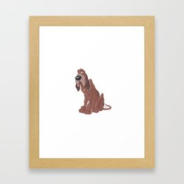 Trusty - Lady And The Tramp Framed Art Print