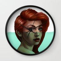 ariel Wall Clocks featuring Ariel by RachelHam