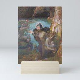 Gaston Bussière - Sea Nymphs at a Grotto Mini Art Print