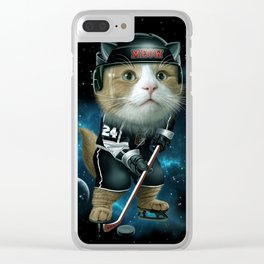 TEAM MEOW HOCKEY Clear iPhone Case