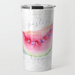 La Pastèque de Béziers—Watermelon and Lavender, Provence Travel Mug