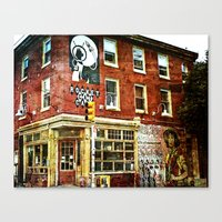 cafe Canvas Prints featuring Cafe by Kinseysmom