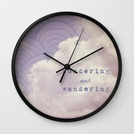 wondering about wandering Wall Clock