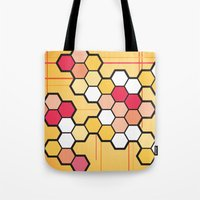 community Tote Bags featuring Community by Barb Sotiropoulos