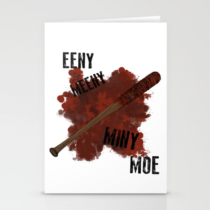 The Walking Dead Eeny Meeny Miny Moe Stationery Cards By