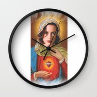 dana scully Wall Clocks featuring Dana Scully by Michelle Wenz