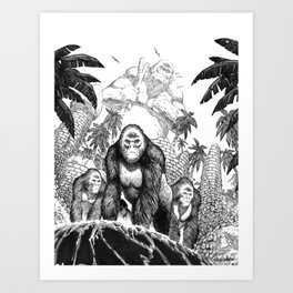 The Lost City of the Jungle Apes Art Print