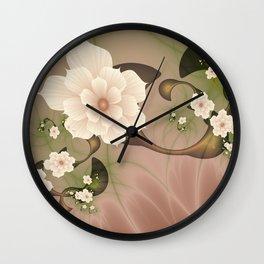 Abstract Flowers Fractal Art Wall Clock