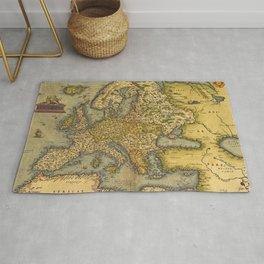 Vintage map of Europe Rug