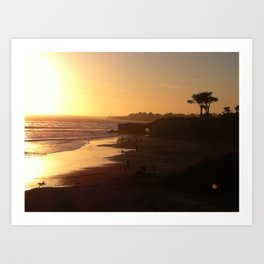 Santa Cruz Beach Art Print