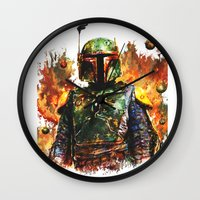 boba Wall Clocks featuring Boba Fett by ururuty
