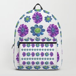 Blue and Purple Pattern Backpack