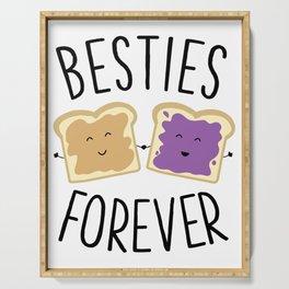 Cute Funny Peanut Butter Jelly Besties Forever Best Friends Serving Tray