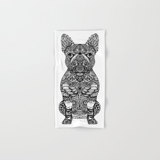 Mandala Frenchie Hand & Bath Towel
