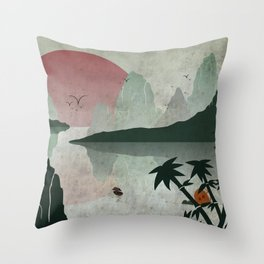 Two Of Seven Throw Pillow