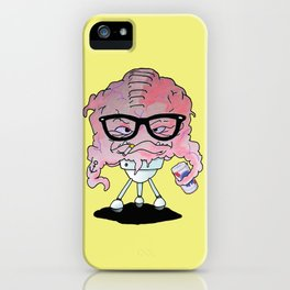 Brainy Hipster iPhone Case