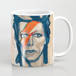 "Portrat of David Bowie as ""Ziggy Stardust"" Coffee Mug"