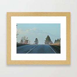 behind the hill Framed Art Print