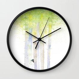 HIDE AND SEEK BIRCH FOREST Wall Clock