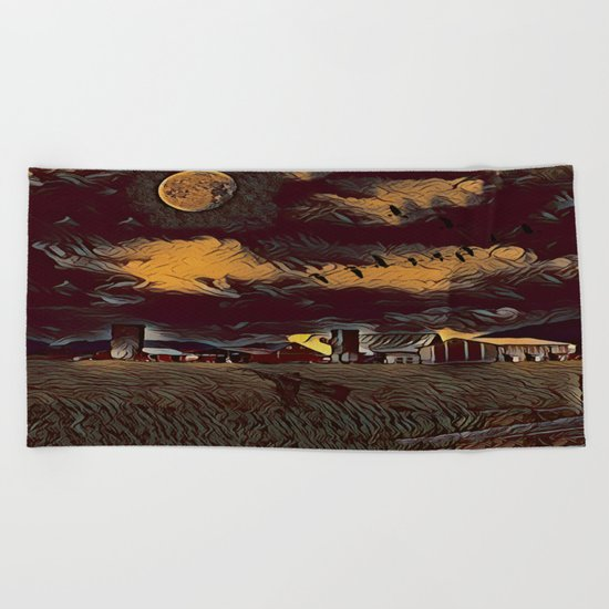 Harvest Moon Beach Towel