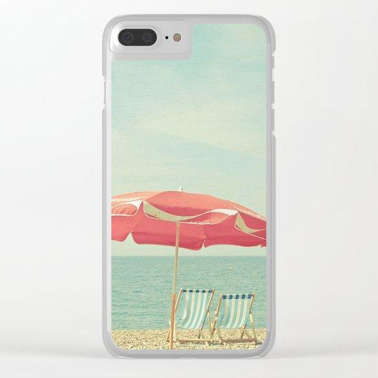 Deserted Beach Clear iPhone Case