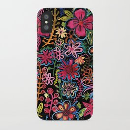 Meadow on black iPhone Case