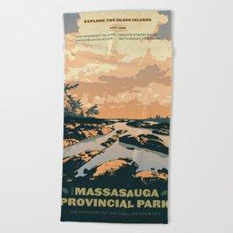 The Massasauga Park Poster Beach Towel