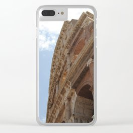 Colosseum Close Up Clear iPhone Case