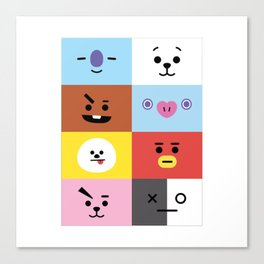 BT21 ALL-IN-ONE Canvas Print