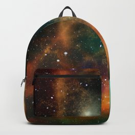 Teal orange gold universe galaxy nebula Backpack