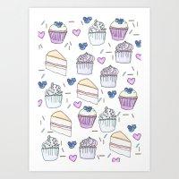 Tea and Cake Art Print