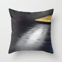 vinyl Throw Pillows featuring Vinyl by Karl Turner