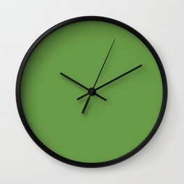 Floral Abundance ~ Green Leaves Wall Clock