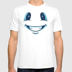 Happy Happy Mens Fitted Tee White MEDIUM