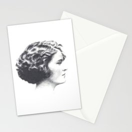 A portrait of Zelda Fitzgerald Stationery Cards