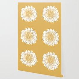 Yellow Sunflower Drawing Wallpaper