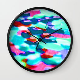 flowery meadow Wall Clock