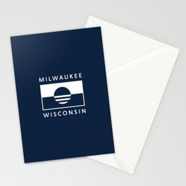 Milwaukee Wisconsin - Navy - People's Flag of Milwaukee Stationery Cards