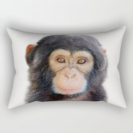 Baby Monkey, Baby Animals Art Print By Synplus Rectangular Pillow