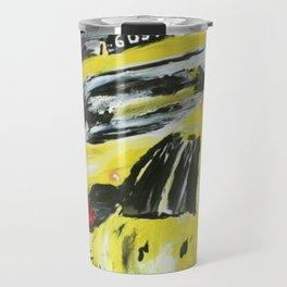 New York Taxis Fine Art Acrylic Painting Travel Mug
