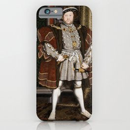 Portrait of Henry VIII - After Hans Holbien the Younger iPhone Case