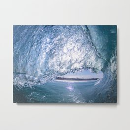 Rosarito Beach Baja Mexico Blue Metal Print