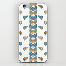 Leaves & Birds Pattern iPhone & iPod Skin